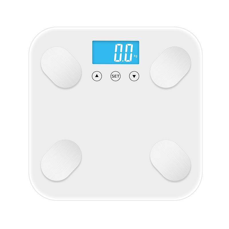 Body Fat and Water Content Testing High Precision Glass Platform Body Fat Scale